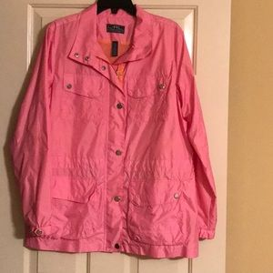 NWOT Ralph Lauren Active Pink Zip Front Jacket XL